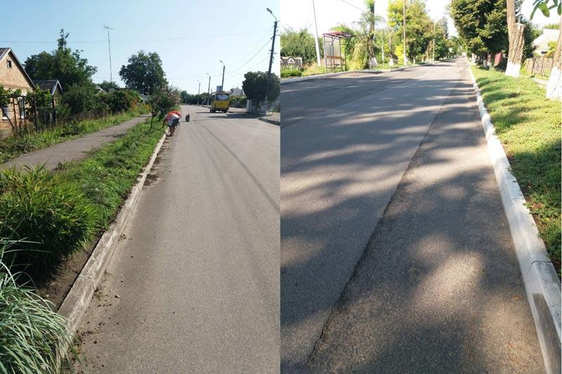 Вырубка травы по Киевской